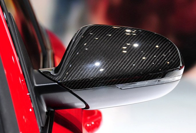 Audi A6 S6 RS6 Carbon Fiber Auto Accessories Side Mirror Covers Customized Packing