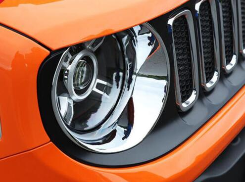 Durable Chrome Light Covers / Jeep Headlight Covers Models Renegade 2016