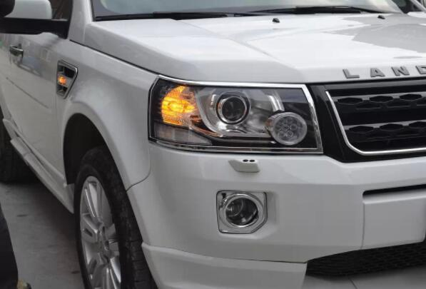 Front Lamp Trim Chrome Light Covers Fit Land Rover Freelander 2 2012-15