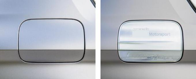 BMW 5 Series 2017 Fuel Tank Door Cover With Multi Level Chromed Processing