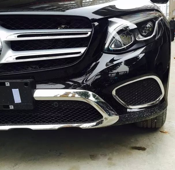 Chrome Silver Color Front Fog Light Cover Fit Mercedes Benz GLC Class 2015