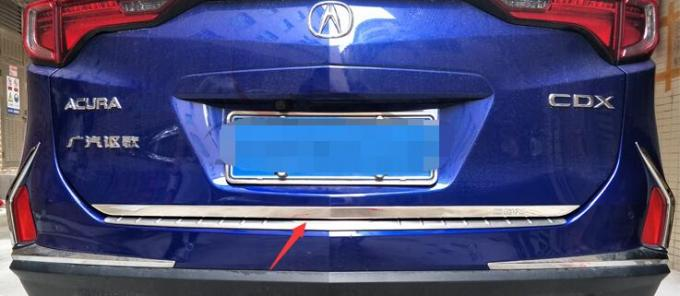 Stainless Steel Trunk Lid Trim / Tailgate Trim Rear Trunk Streamer For Acura CDX 2017