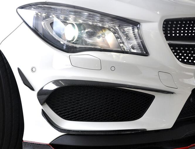 Front Bumper Canards Carbon Fiber Auto Accessories For Mercedes Benz CLA Class 2013-2016