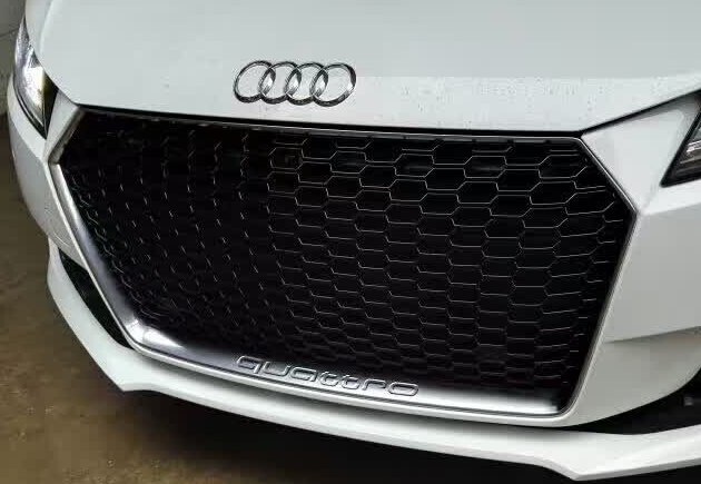 Audi TT RS 2016 Auto Grill Covers Full Black ABS Chrome Grille Cover