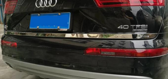 Audi Q7 2017 Stainless Steel Auto Accessories Rear Trunk Streamer Lid Cover Trim
