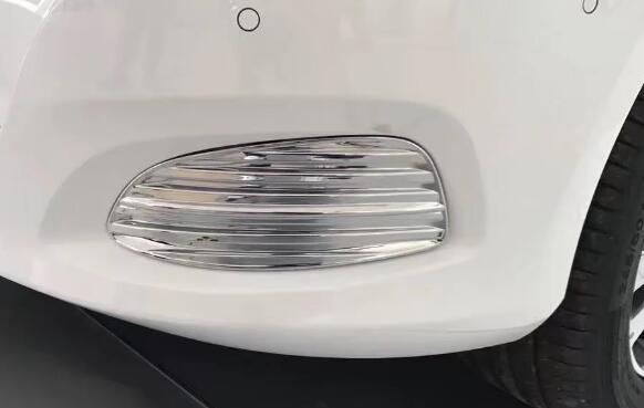 ABS Chrome Front Foglight Covers Fog Lamp Cover Trim For Mercedes Benz V-class V260