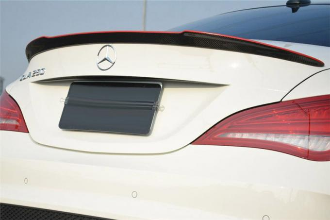 FD Style Carbon Fiber Auto Accessories Rear Spoiler With Red Line For Mercedes Benz 2014 CLA W117 / CLA45