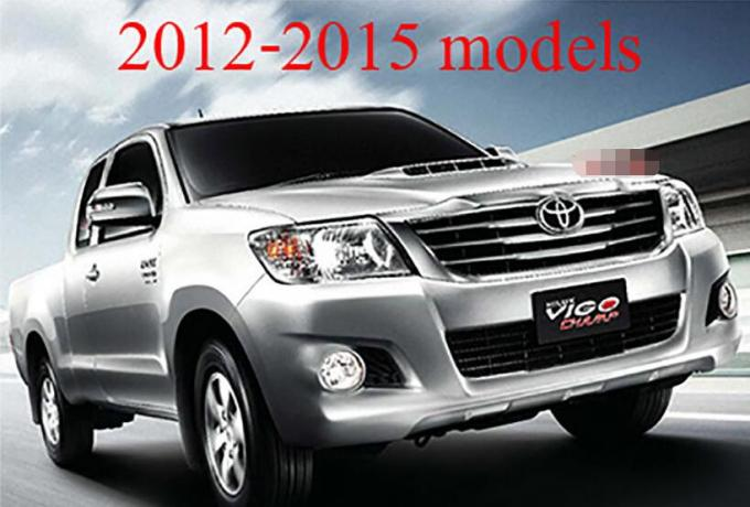 Chrome Line Front Grill Cover Trim For Toyota Hilux Vigo Champ mk7 2012 Pick Up