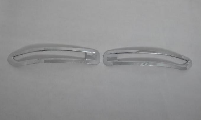 VW Touareg 2011 - 15 Chrome Fog Light Covers ABS Plastic Material Bright Silver Color