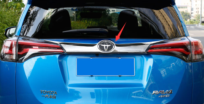 Chrome Rear Trunk Lid Trim For Toyota RAV4 2016 Automobile Accessories