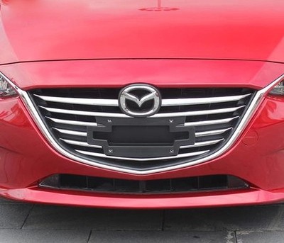 Mazda3 AXELA 2014 Front Grill Cover Trims Grade Polished Chrome For Brilliant Shine