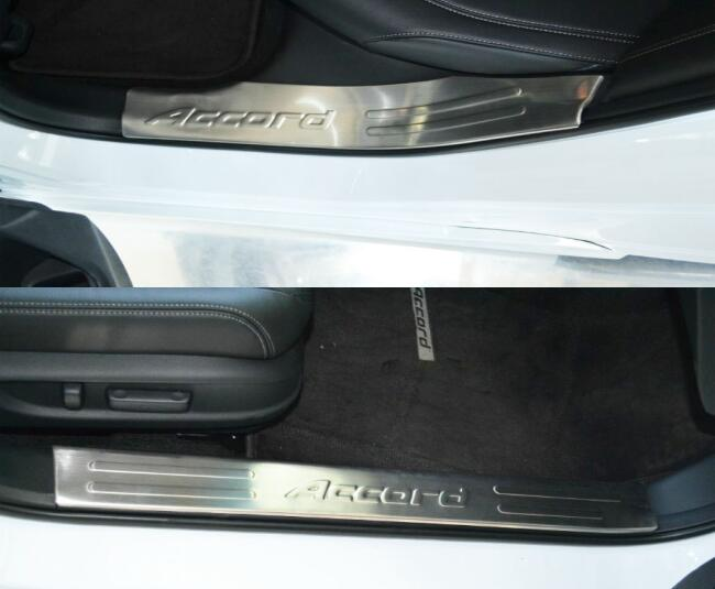 Honda Accord 2014 Polished Stainless Inner Door Sill Trim / Door Kick Plates