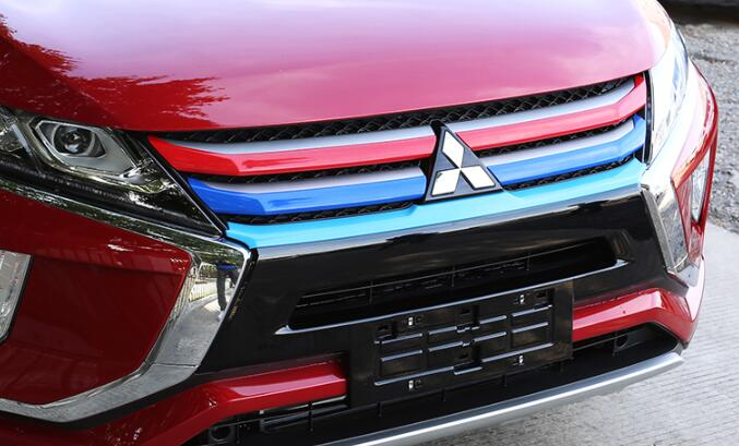 3 Color ABS Front Grill Stickers / Auto Grill Covers For Mitsubishi Eclipse Cross 2018