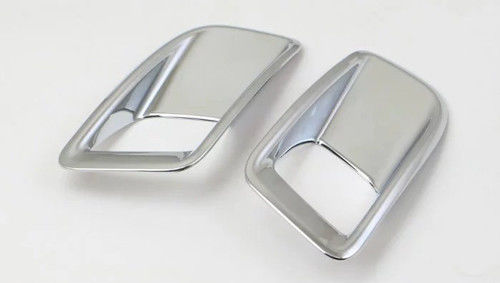 China Silver ABS Chrome Fog Light Covers Fog Lamp Trim Fit Peugeot 4008 2017 supplier