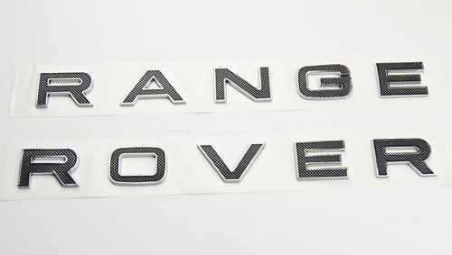 China Land Rover Chrome Auto Accessories Zinc Alloy Material Front Hood Letters Badge supplier