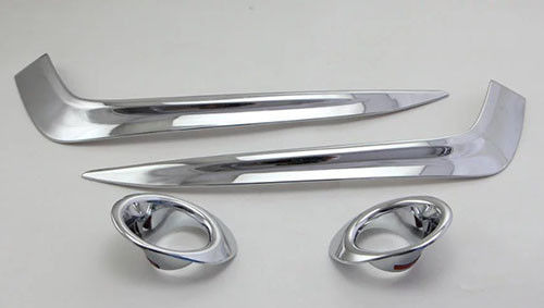 China Honda Civic 2016 Chrome Fog Light Covers Multilevel Chromed Processing supplier