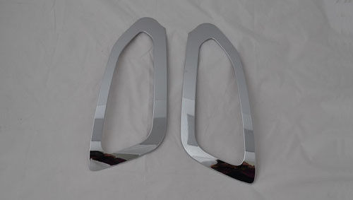 China Hyundai IX45 Chrome Fog Light Covers No Drilling Front Fog Lamp Surround supplier