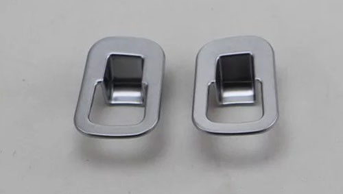 China ABS Chrome Car Interior Parts Rear Seat Adjuster Cover Fit Mercedes Benz GLC-Class 2015 supplier