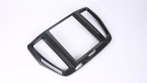 China Durable Navigation Cover Car Interior Trim Parts Applied Volvo XC60 2018 ABS Carbon Fiber Look supplier