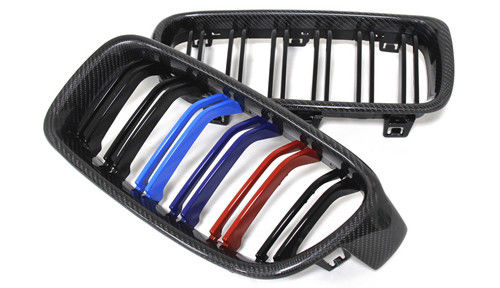 China OEM Carbon Fiber Auto Accessories  Front Grille Dual Slat 3 Color M Look For BMW supplier