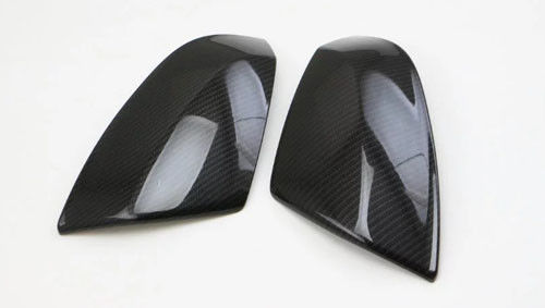 China Audi Q7 2017 Imitation Carbon Door Mirror Covers / Chrome Side Mirror Covers supplier