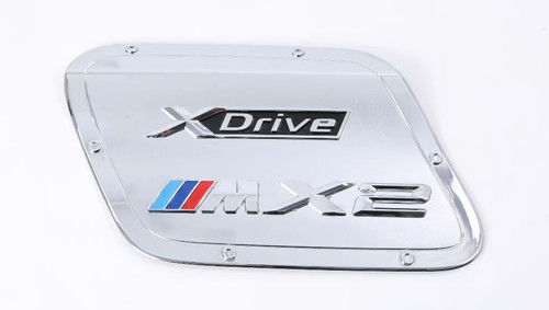 China BMW X2 2018 Fuel Tank Door Cover , Precise Mold ABS Chrome Gas Tank Cover supplier