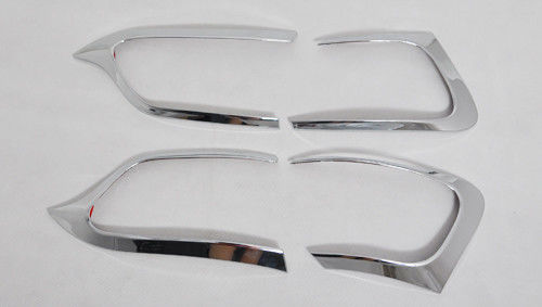 China Jeep Cherokee 2014 Chrome Light Covers For Car Light Decoration / Tail Light Chrome Trim supplier
