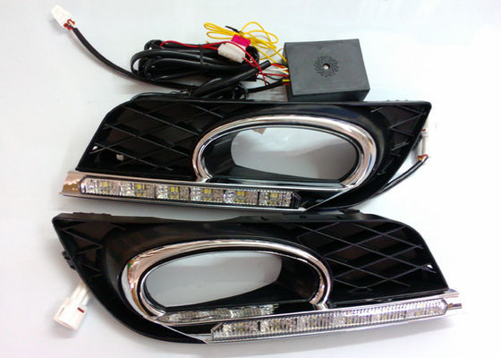 China Shockproof Chrome Auto Accessories , Honda Civic 2011 - 2013 DRL LED Daytime Running Lights Indicator Replacement supplier