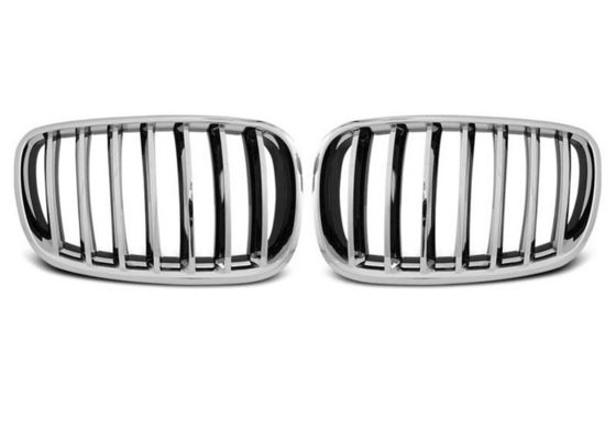 China Front BMW Kidney Grille Black Chrome Abs For E70 X5 Series E71 X6 Series supplier