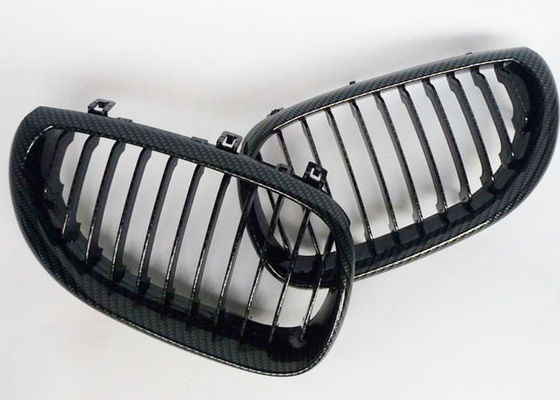 China Real Carbon Fiber Auto Accessories / Black Front BMW Kidney Grille For E60 E61 M5 Replacement supplier