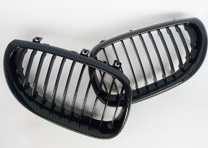 Real Carbon Fiber Auto Accessories / Black Front BMW Kidney