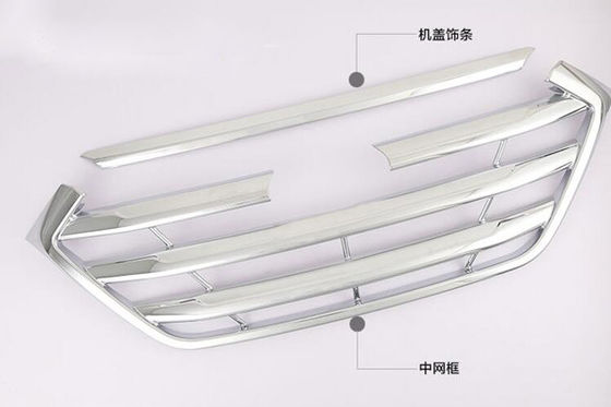 China Hyundai Tucson 2015 Car Grille Cover Chrome Front Bumper Grill Trim factory