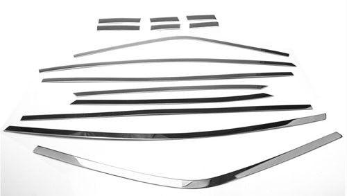 Steel Car Window Trim / Window Sills Trim Fit Honda Odyssey 2015 No Rust