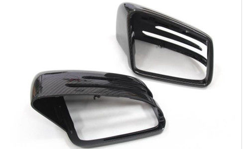Mercedes Benz G GL GLE GLS R Class Carbon Fiber Auto Accessories / Mirror Cover Replacement