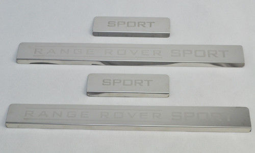 Mirror Shining Door Sill Scuff Plate For Range Rover Sport 2005 - 13 / Car Door Step Protector
